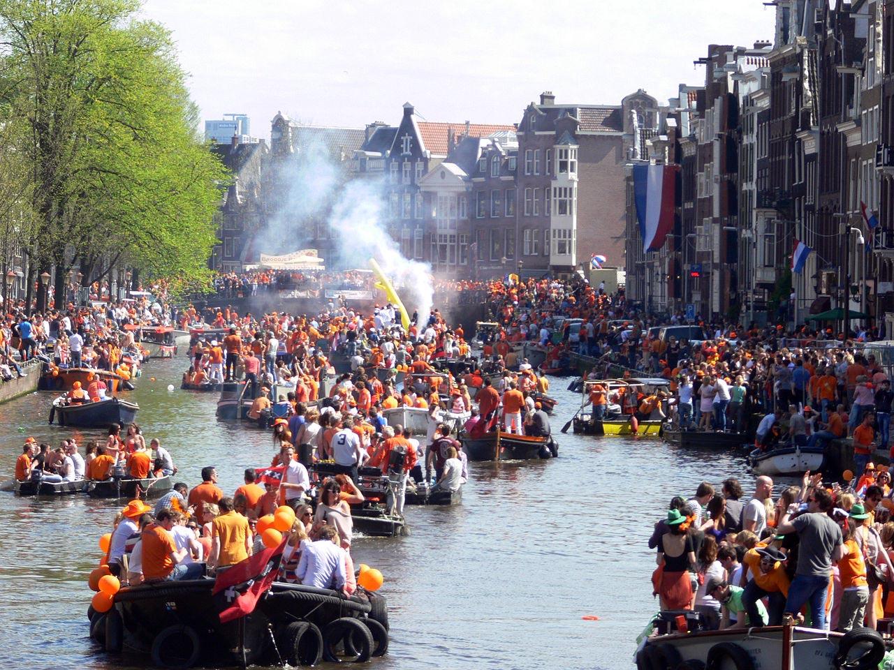 День Короля, Амстердам, Голландия