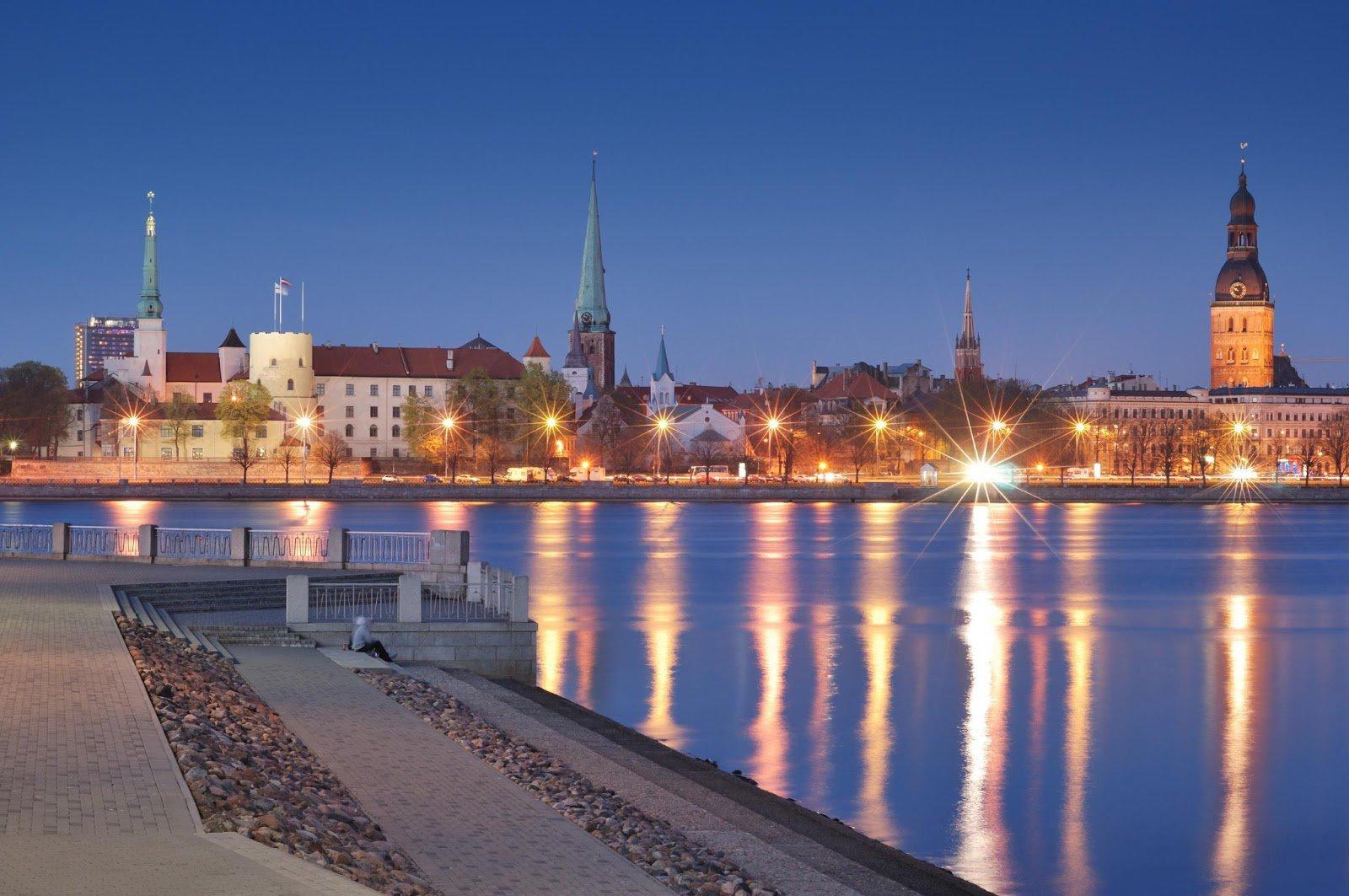 Панорама Риги, Латвия